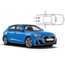 Sonnenschutz Blenden für Audi A1 Sportback (Typ GB) 5 Türen 2018-