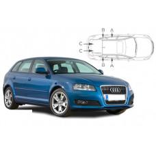 Sonnenschutz Blenden für Audi A3 Typ 8P 5 Türen Sportback 2003-2012