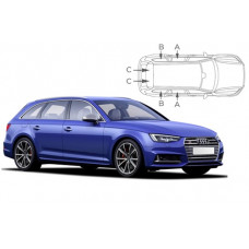 Sonnenschutz Blenden für Audi A4 (B9) Avant 2015-