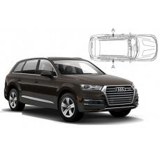 Sonnenschutz Blenden für Audi Q7 5 Türen (Typ 4M) 2015- nur hintere Seitenscheiben