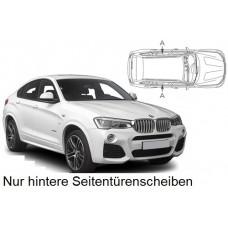 Sonnenschutz Blenden für BMW X4 F26 5 Türen 2014-2018 nur hintere Seitentürenscheiben