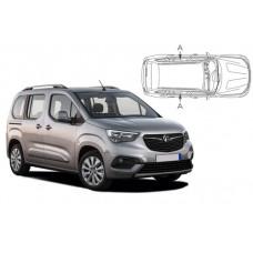Sonnenschutz Blenden für Opel Combo E Life XL 2018- nur hintere Seitentürenscheiben