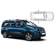 Sonnenschutz Blenden Set für Peugeot Rifter L2 2018- nur hintere Seitentürenscheiben