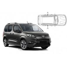 Sonnenschutz Blenden für Toyota Proace City Verso 2018- nur hintere Seitentürenscheiben