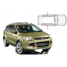 Sonnenschutz Blenden für Ford Kuga 5 Türen 2012-2019 nur hintere Seitentürenscheiben