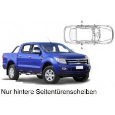 Sonnenschutz Blenden für Ford Ranger T6 Double Cab 2011- nur hintere Seitentürenscheiben