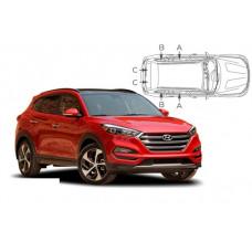 Sonnenschutz Blenden für Hyundai Tucson TL 5 Türen 2015-2018