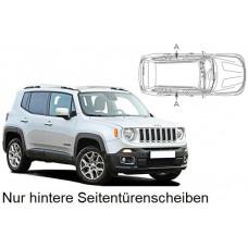 Sonnenschutz Blenden für Jeep Renegade 2015- nur hintere Seitentürenscheiben