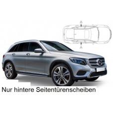 Sonnenschutz Blenden für Mercedes-Benz GLC (X253) 5 Türen 2015- nur hintere Seitentürenscheiben