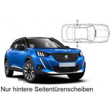 Sonnenschutz Blenden Set für Peugeot 2008 Modelljahr 2020- nur hintere Seitentürenscheiben