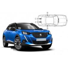 Sonnenschutz Blenden Set für Peugeot 2008 Modelljahr 2020-