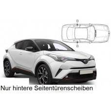 Sonnenschutz Blenden für Toyota C-HR 5 Türen 2017- nur hintere Seitentürenscheiben