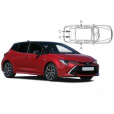 Sonnenschutz Blenden für Toyota Corolla 5 Türen Schrägheck 2018-
