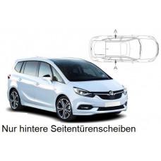 Sonnenschutz Blenden für Opel Zafira C 5 Türen Tourer 2012-2019 nur hintere Seitentürenscheiben