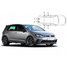 Sonnenschutz Blenden für Volkswagen Golf 7 - 5 Türen 2012-2020