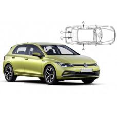 Sonnenschutz Blenden für Volkswagen Golf 8 - 5 Türen 2020-