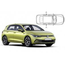 Sonnenschutz Blenden für Volkswagen Golf 8 - 5 Türen 2020- nur hintere Seitentürenscheiben