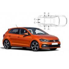 Sonnenschutz Blenden für Volkswagen Polo 6 (Typ AW) - 5 Türen 2017-