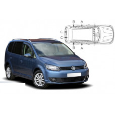 Sonnenschutz Blenden für Volkswagen Touran (Typ 1T/GP2) 2010-2015